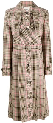 Mulberry Alison checked coat