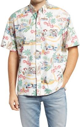 Reyn Spooner Peanuts In Hawaii Short Sleeve Button Down Shirt