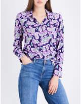 Sandro Paisley-print silk shirt