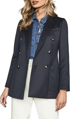 Reiss Astrid Wool Blend Trench Coat