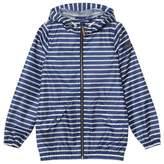 Joules Blue Stripe Branded Waterproof Jacket