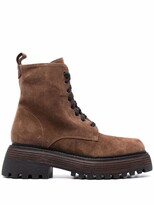Thumbnail for your product : Paul Warmer Side-Zip Low-Heel Ankle Boots