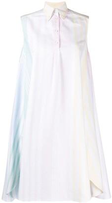 Thom Browne 4-Bar Stripe Oversized Circle Dress