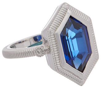 Judith Ripka Martinique Silver 4.02 Ct. Tw. Gemstone Ring