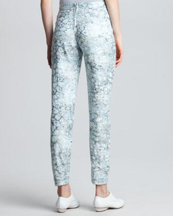 Giorgio Armani Narrow Floral Jacquard Pants
