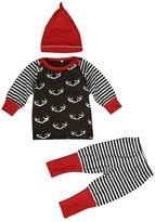 Susenstone Infant Baby Top Romper Pants Leggings 3pcs Outfits Set Costume
