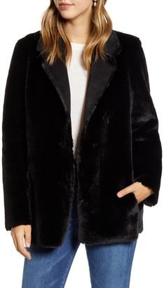 Rachel Parcell Reversible Faux Fur Jacket