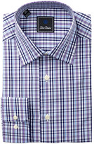 David Donahue Plaid Regular Fit Dress Shirt