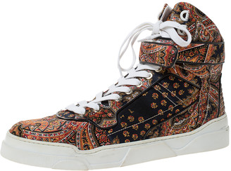 Givenchy Multicolor Paisley Print Satin Tyson High Top Sneakers Size 40