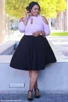 Forever 21 FOREVER 21+ Plus Size Pleated Skirt