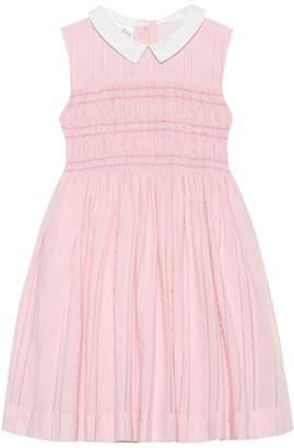 Rachel Riley Geometric smocked cotton dress