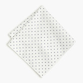 J.Crew Cotton pocket square in large dot