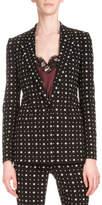 Givenchy Printed One-Button Cady Blazer, Black