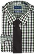 Nick Graham Men's Nick Dunn Modern-Fit Patterned Easy-Care Spread-Collar Dress Shirt & Tie Set