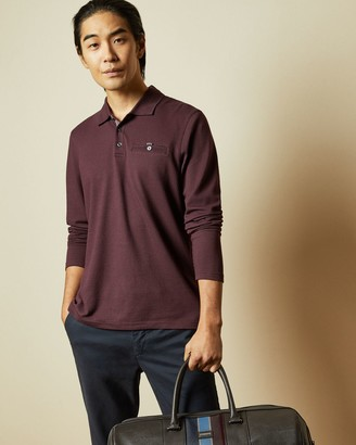 Ted Baker Long Sleeved Polo Top