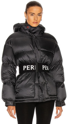 Perfect Moment Oversize Parka II Jacket in Black & Snow White | FWRD
