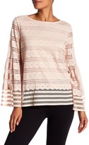 Max Studio Bell Sleeve Lace Blouse