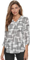 Apt. 9 Women's Roll-Tab Chiffon Tunic Top