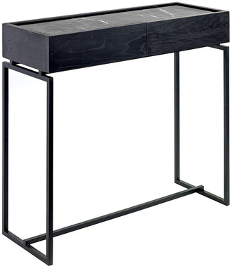 Serax Marble Console with Drawer - Black