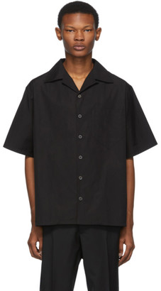 Prada Black Poplin Shirt