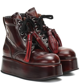 Marni Patent leather platform ankle boots