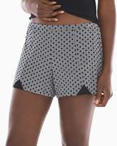 Soma Intimates Lace Detail Pajama Shorts Playful Dot Heather Graphite