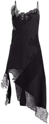 Marques Almeida Marques'almeida - Lace Insert Cotton Dress - Womens - Black