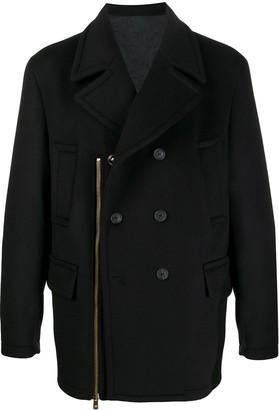 Versace Zip-Embellished Coat