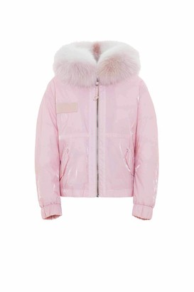 Mr & Mrs Italy Cropped Parka M51 For Woman With Fox Fur