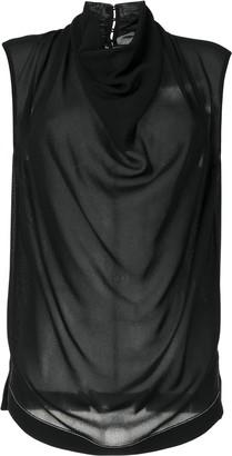 Proenza Schouler Cowl-Neck Sleeveless Top