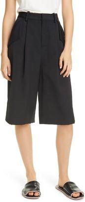 PARTOW Gordon Pleated Bermuda Shorts