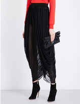 Balmain Draped waterfall woven skirt