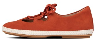 FitFlop Fia Lace-Up Suede Ballet Flats