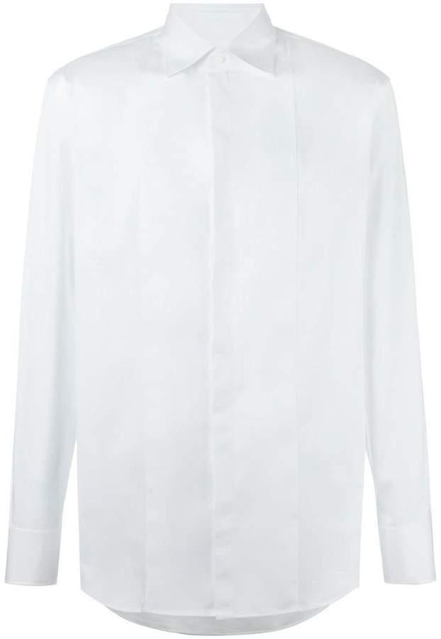 DSQUARED2 concealed fastening bib shirt