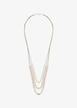Phase Eight Polly Cord and Bead Triple Row Necklace