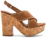 Lola Cruz Cross Front Platform in Brown. - size 37 (also in 39,40)