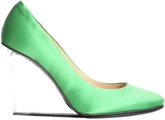 Maison Margiela Green Cloth Heels