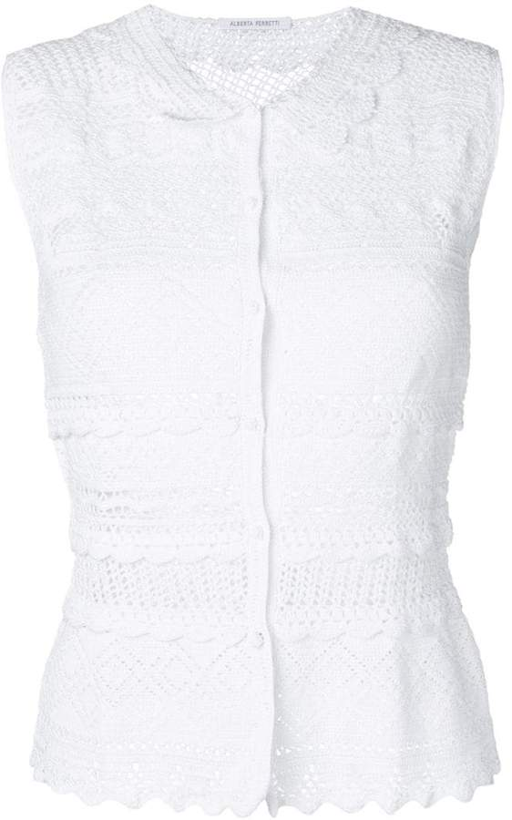 White Crochet Cardigan Shopstyle