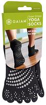 Gaiam No-slip Yoga Socks, One Size, Black