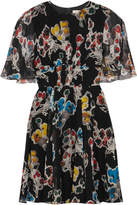 Jason Wu Floral-print Silk-crepon Mini Dress - Black
