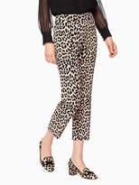 Kate Spade Leopard-print cigarette pant