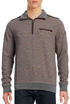 Bugatti Contrast Half-Zip Mock Sweater