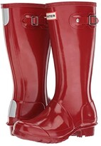 Hunter Original Kids' Gloss Rain Boot (Little Kid/Big Kid) (Black) Kids Shoes