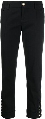 Gucci Cropped Button-Detail Trousers