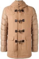 Herno contrast sleeve coat