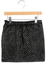 Lanvin Girls' Textured Metallic Skirt w/ Tags