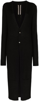 Rick Owens Long Buttoned Cashmere Cardigan