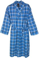 Hanes Men's Cotton Flannel Robe with Pockets, Medium Large