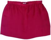 Miu Miu Red Silk Skirt