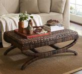 Pottery Barn Seagrass Coffee Table Ottoman